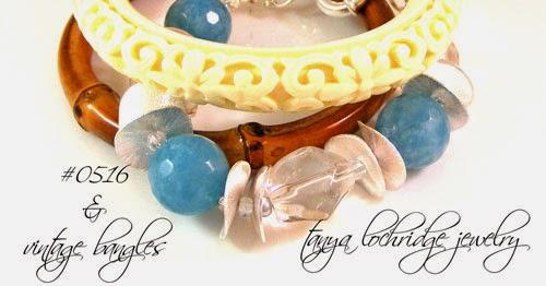Angelite & Crystal Quartz Bold Bracelet