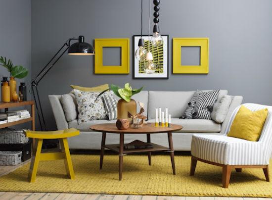 fate home relookers: giallo sole e grigio metropolitano - Arredamento Pareti Gialle