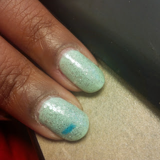 Revlon Top Speed Jaded swatch, OPI Pirouette My Whistle swatch