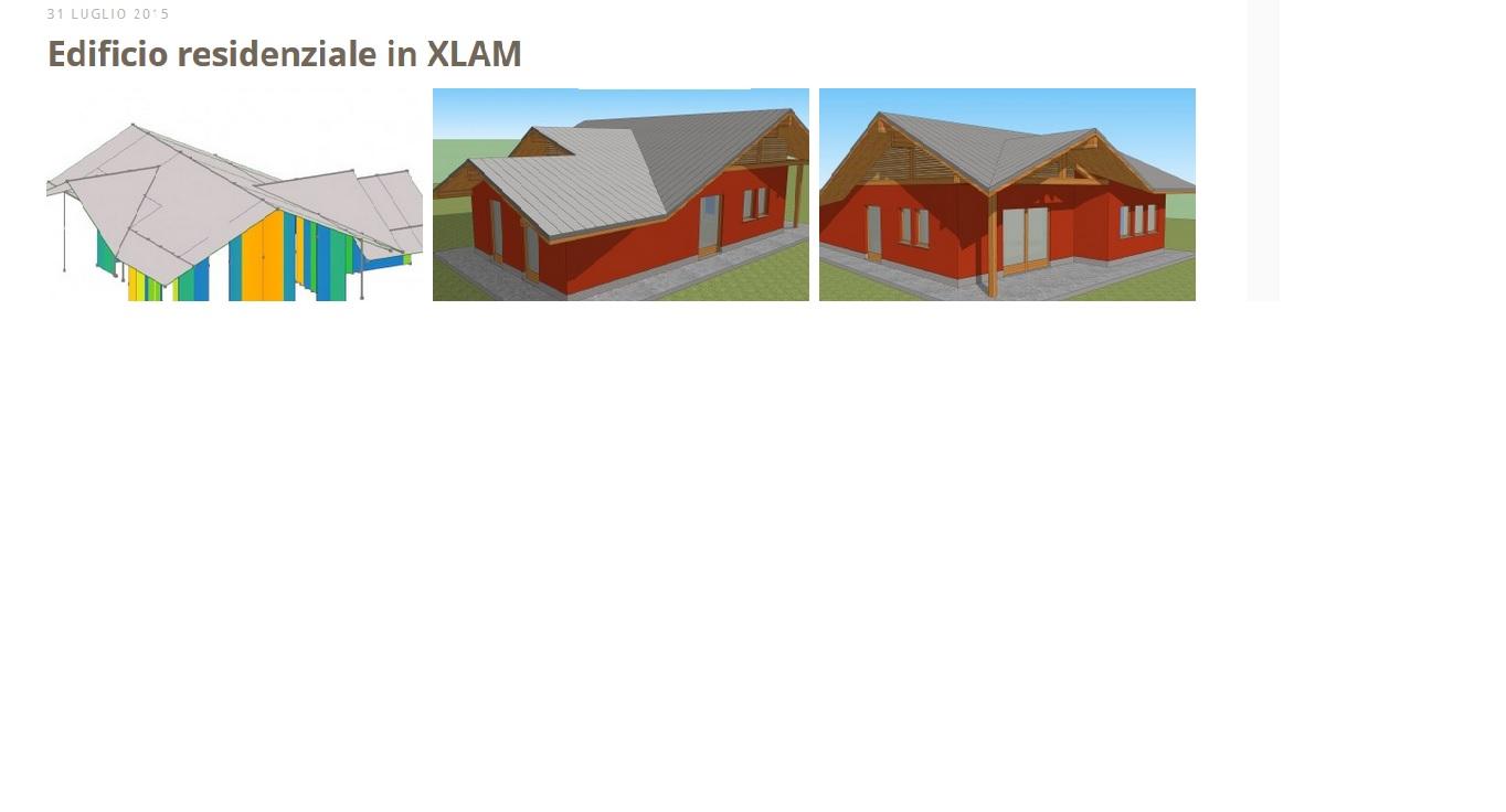 Mio progetto edificio Xlam su sito Timber Tech