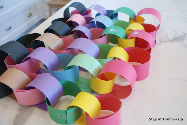 rainbow paper chains