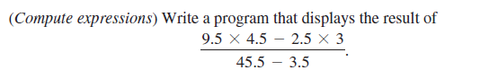 Compute Mathematical Expression Program