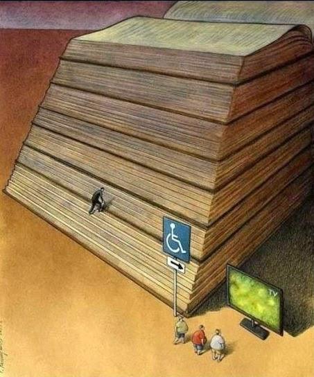 dificualtad, camino fácil, libro, TV