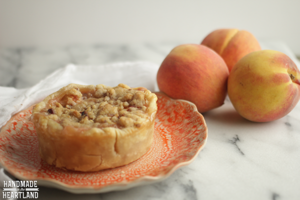 Peach Crumble Pie - Handmade in the Heartland