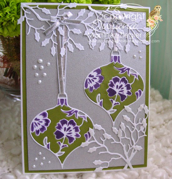 ornament christmas inlay front card