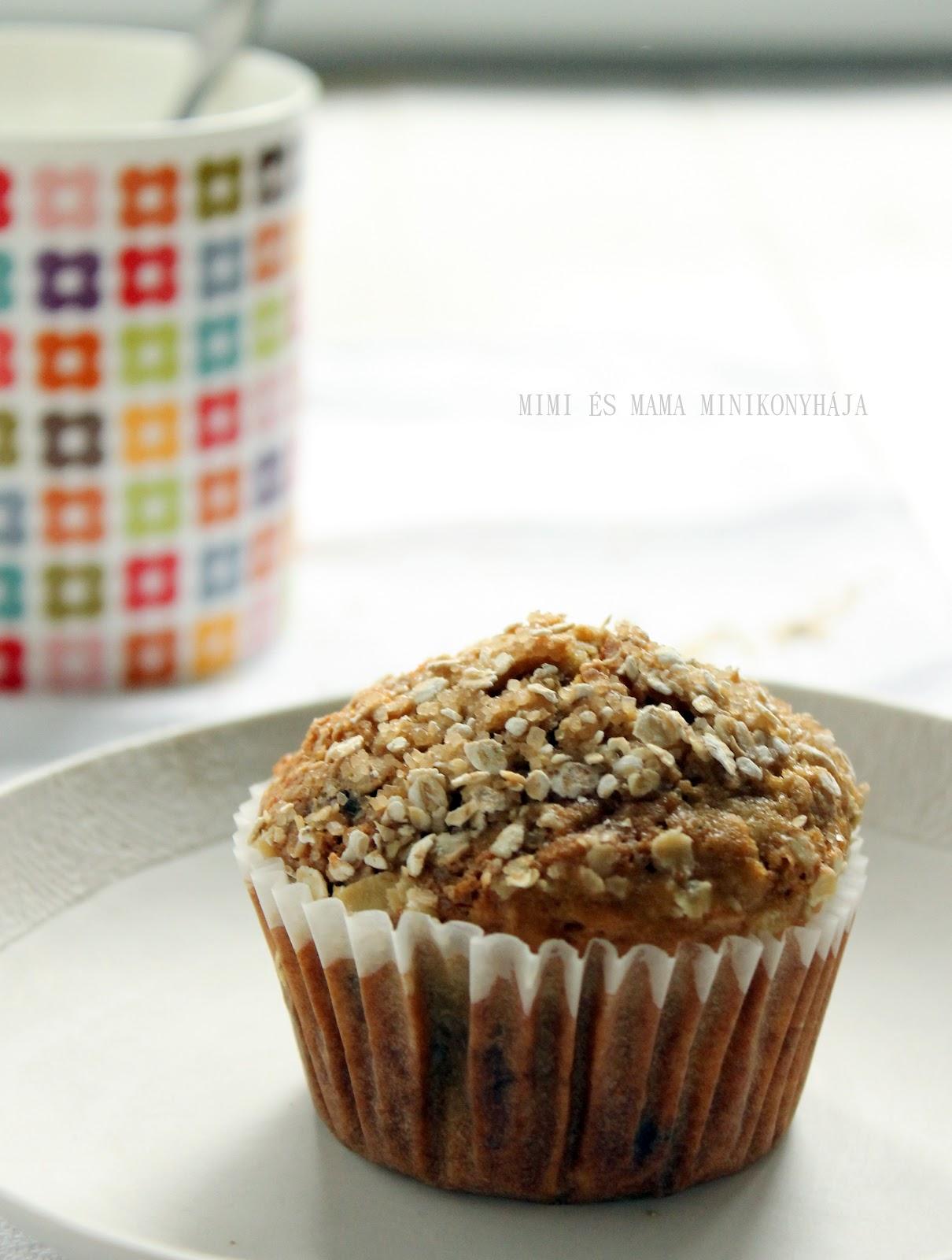 Reggeli zabpelyhes muffin