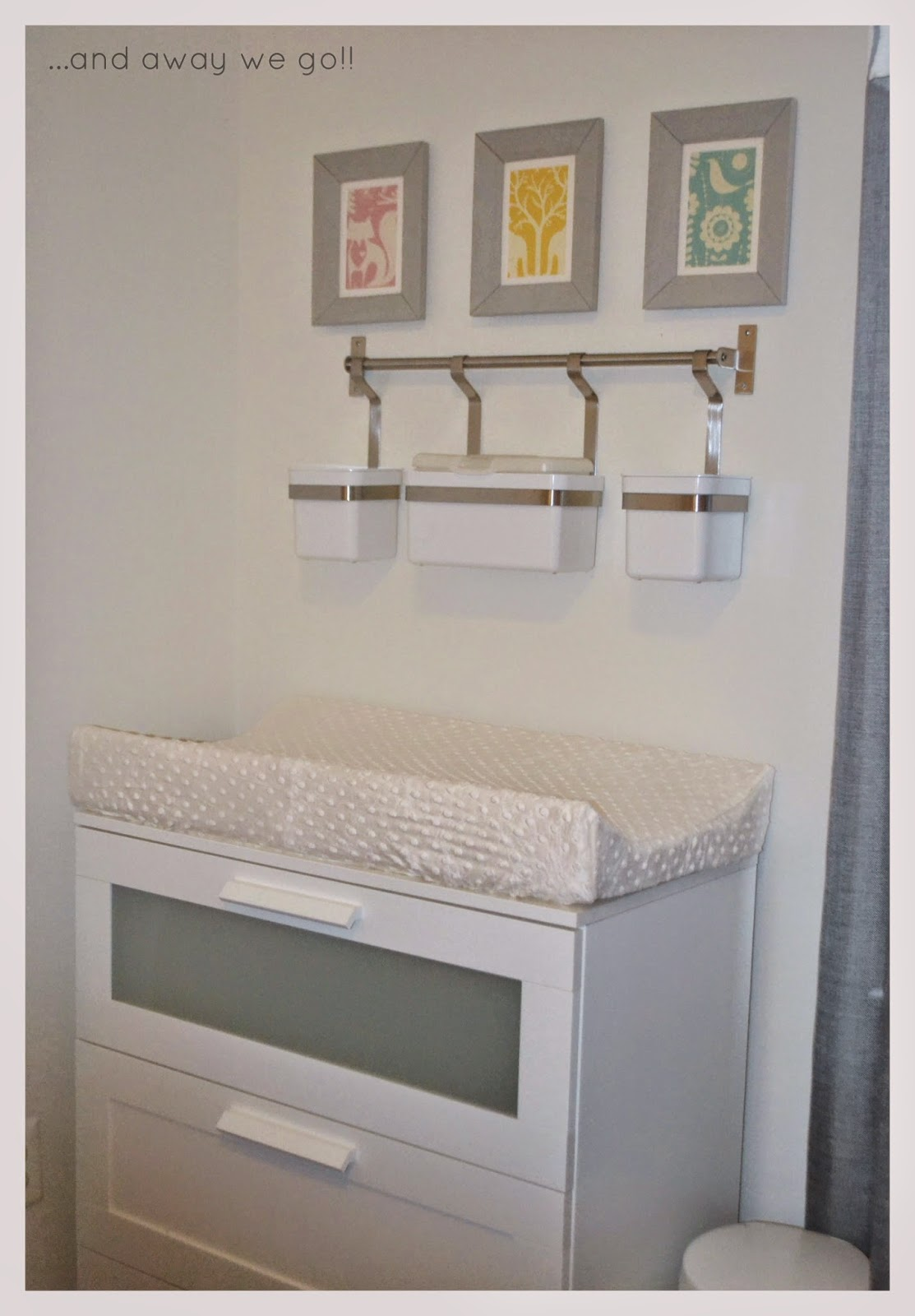 girl baby purple pin nursery dresser and gray accents sanded with repainted