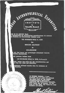 Foto de uno de los certificados otorgado a Royal Rife
