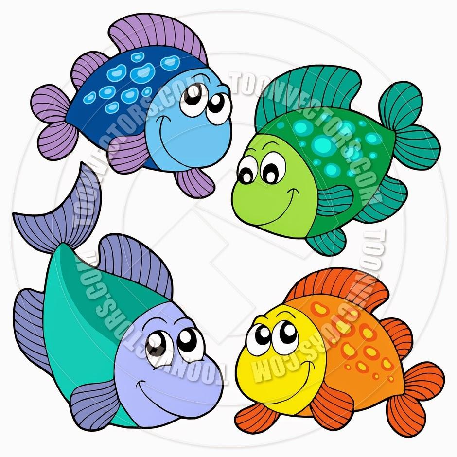 Cute fish cartoon images for Clip art fish