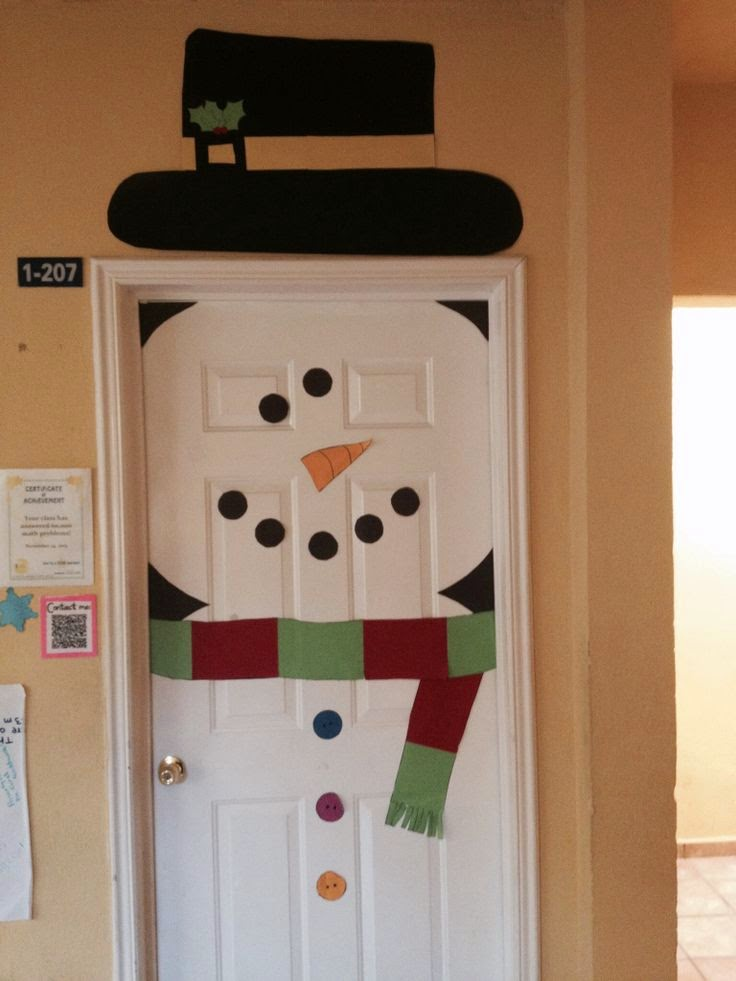 Found on pinterest are several other ex&les of door snowmen including ones with hats extended arms and circle cut outs. & Snowman Door   Munchkins and Mayhem