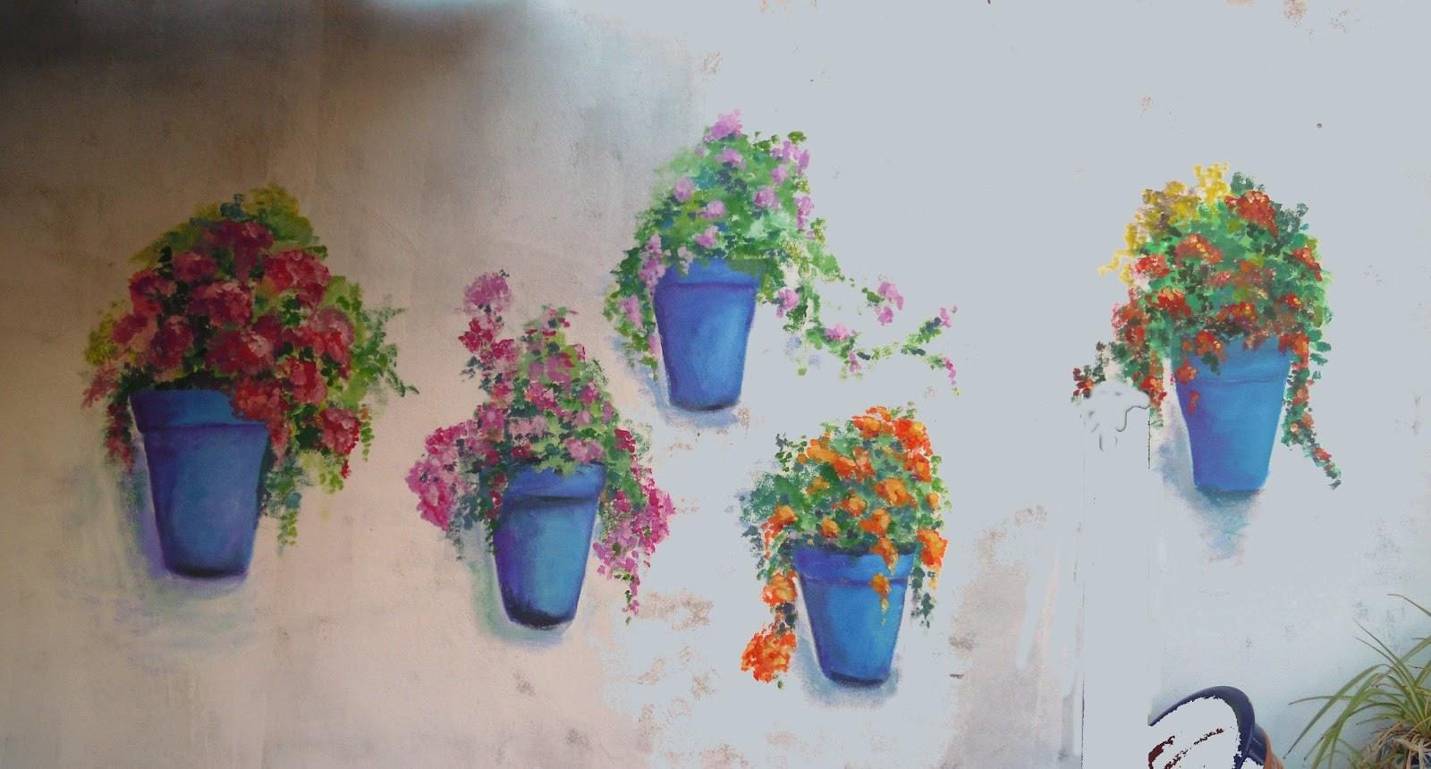 Pinturas de sousa pintura mural - Macetas para pared ...