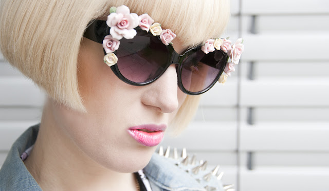 sunglasses, flowers, d&g, diy