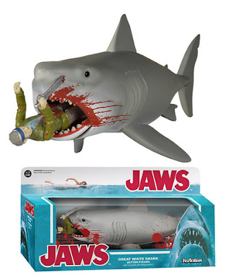 "San Diego Comic-Con 2015 Exclusive Jaws ""Bloody"" Quint and Shark ReAction Retro Action Figure by Funko & Super7"