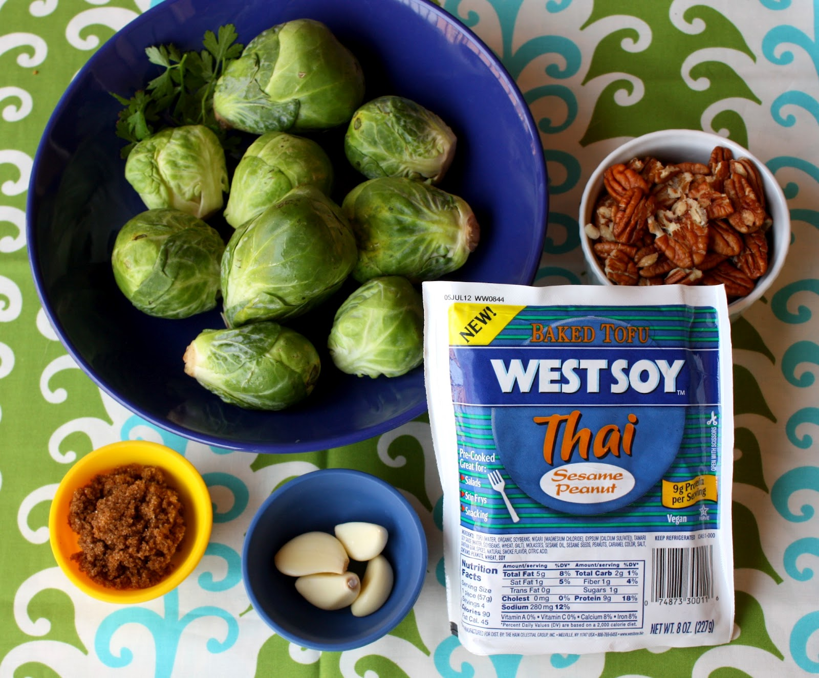 Emerald Rice Cooking: caramelized tofu with brussels sprouts