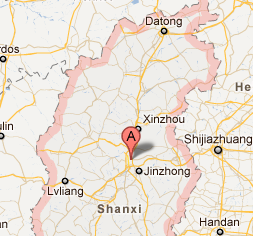 """Shanxi_china_landslide_google_map_march_1_recent_natural_disasters"""