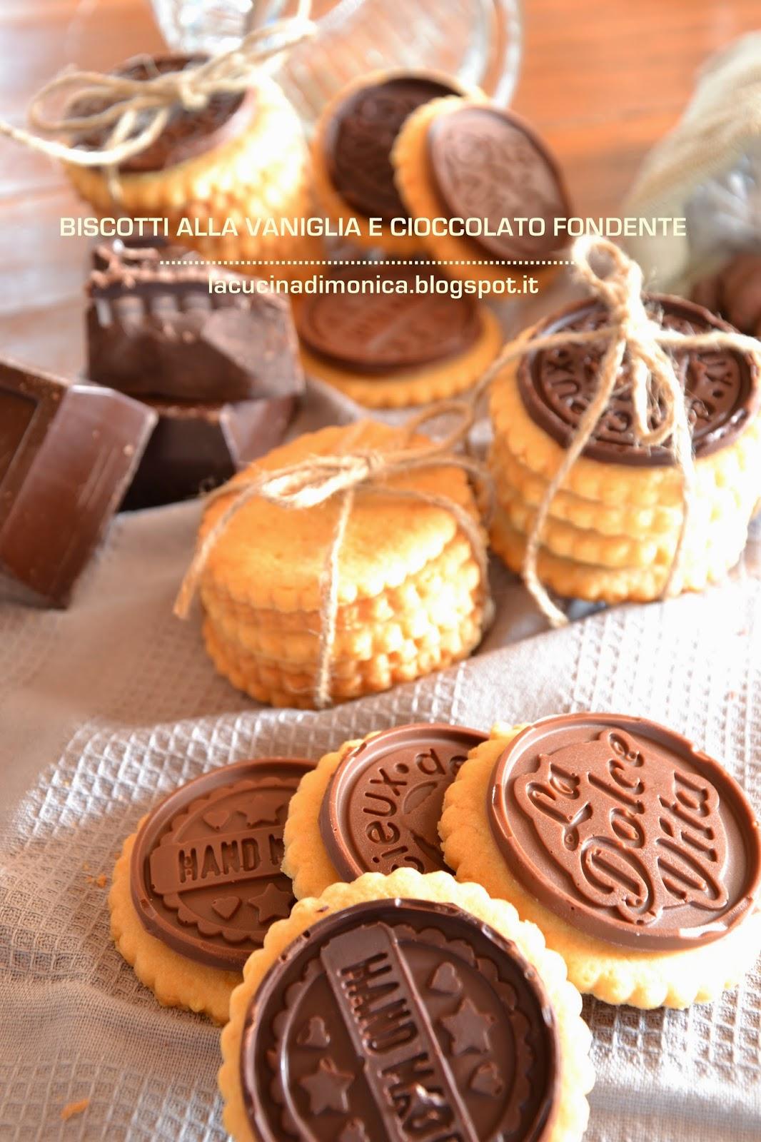 biscotti alla vaniglia e cioccolato fondente