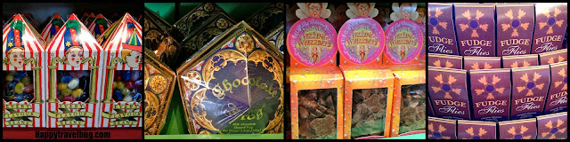 Strange candy from Honeydukes in Harry Potter World
