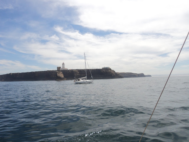 Entering the port of Peniche
