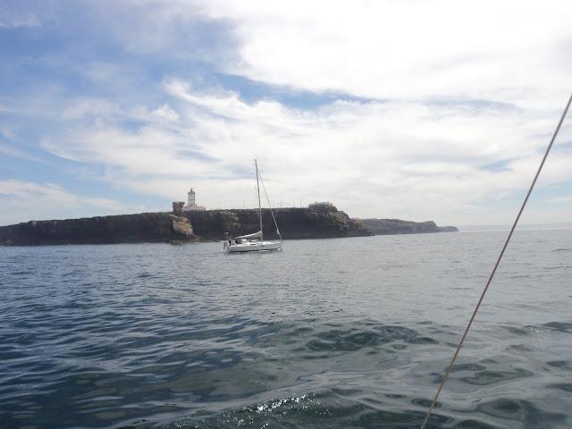 Entering the port of Peniche