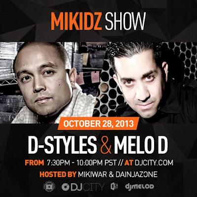 DJ D Styles & DJ Melo D - Live On The MikiDz Show