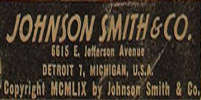 JOHNSON  SMITH  and  CO.