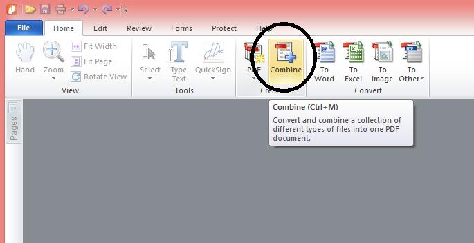 cara menggabungkan file pdf pada nitro