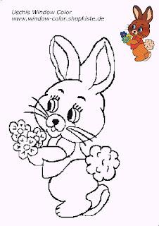 coelho com flores