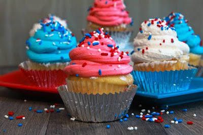 july 4th, holiday recipe, greek yogurt, cupcakes, pinterest