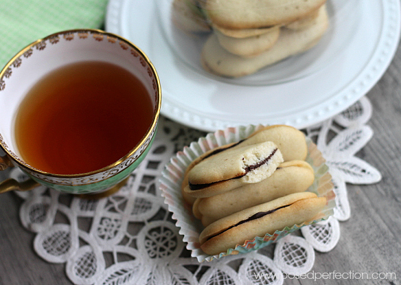 Homemade Mint Milano Cookies are the perfect afternoon pick-me-up paired with a cup of tea!