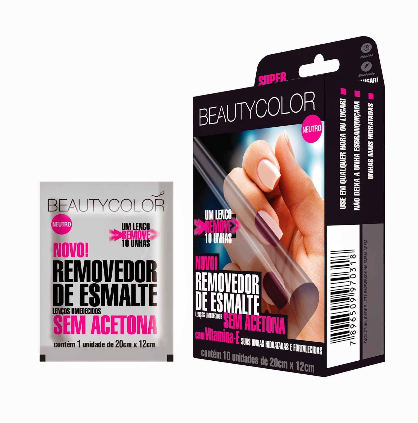 Beautycolor lança lenços hipoalergênicos removedores de esmaltes