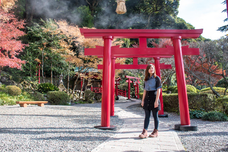 torii gate umi jigoku beppu hells japan