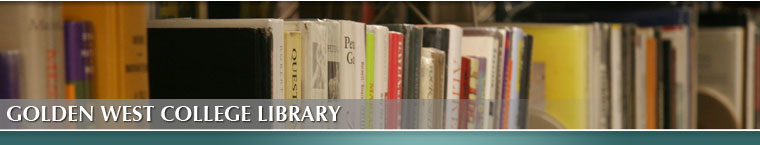 Golden West College Library Newsletter