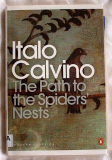 Penguin edition of The Path to the Spiders' Nests by Italo Calvino, borrowed from Clapham Public Library