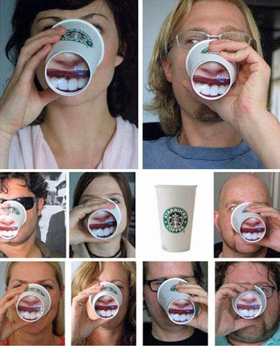 Wrigley's Extra White Gum Coffee Cup Ads