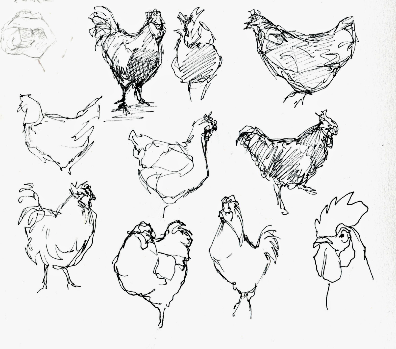 suburban sketches Exercise The French Hen
