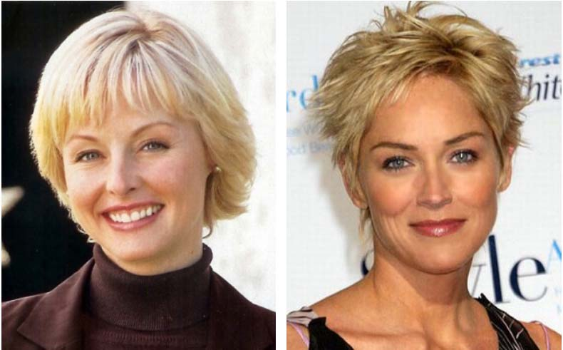 Short Stacked Hairstyles Older Women