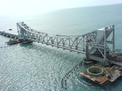pamban bridge view