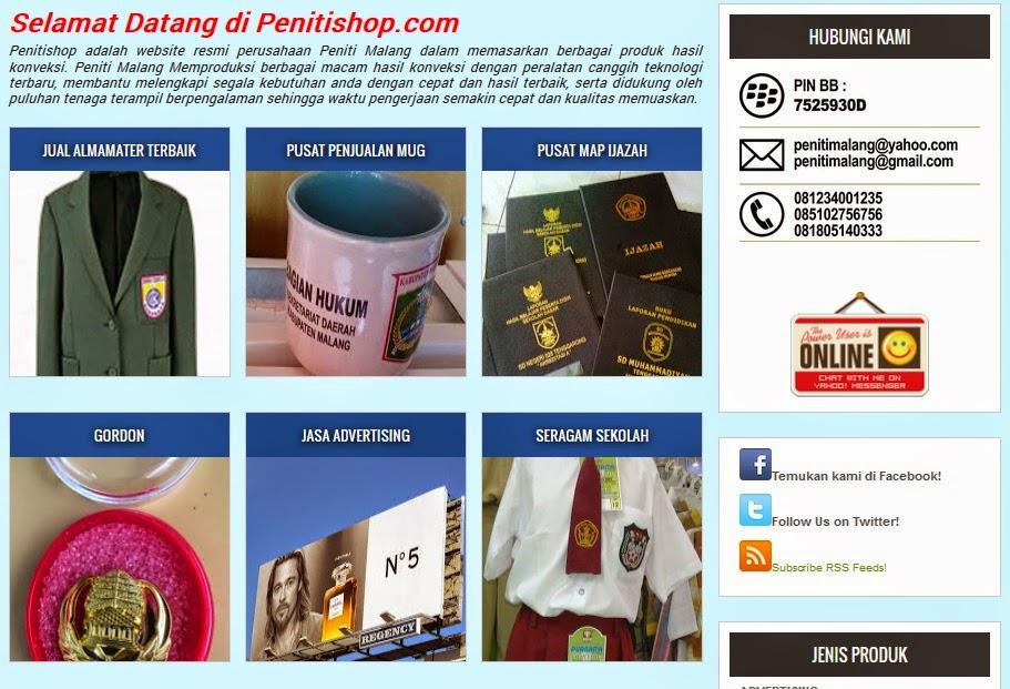 Penitishop.com Jual Almamater Terbaik