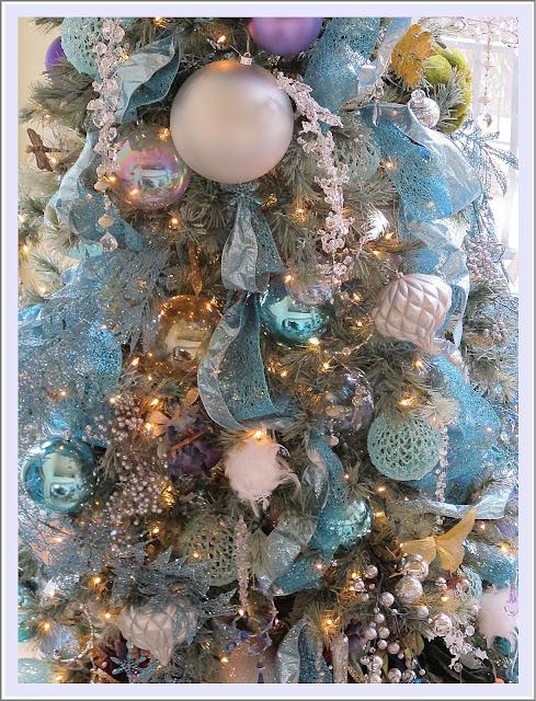 Icy Aqua Splendor - My New Christmas Tree Decor - Purple Chocolat Home