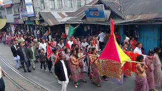 Fulpati sobhayatra celebration kurseong
