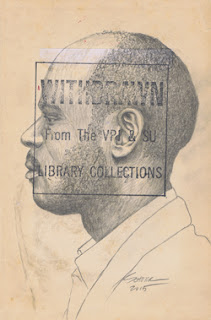 Library People #146, a graphite drawing by Nortth Carolina portrait artist Natalie Schorr