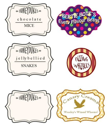 Harry Potter Party Printable Candy Labels  Harry Potter Candy