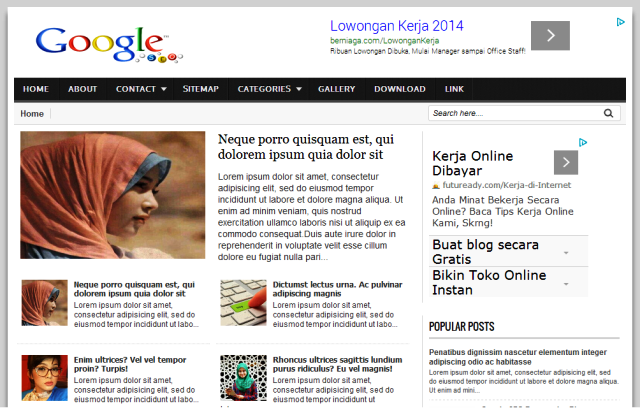 Google blogger template fast loading seo responsive