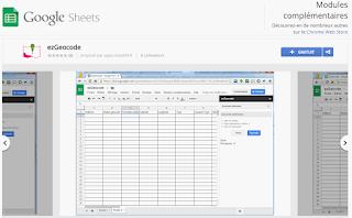 google sheets addon pour géocoder des adresses