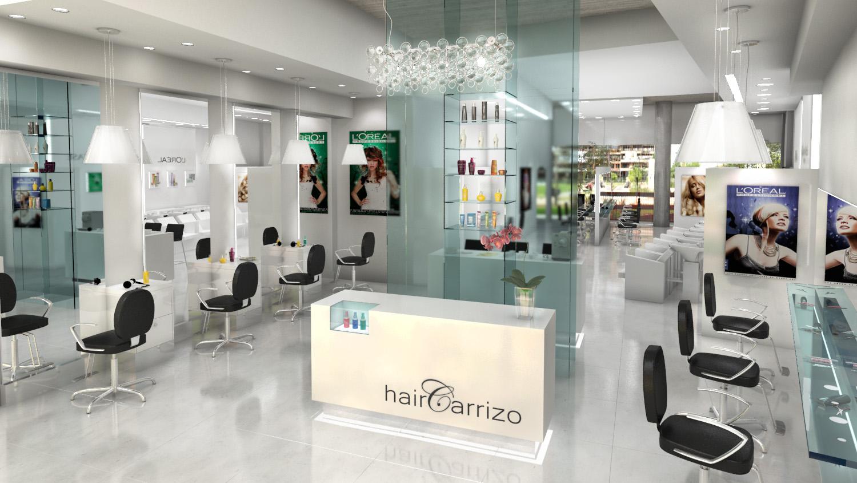 Renders arquitectura render interior local nordelta - Decoracion de peluqueria ...