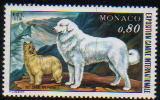 1977年モナコ公国 ブリアードとグレート・ピレニーズの切手