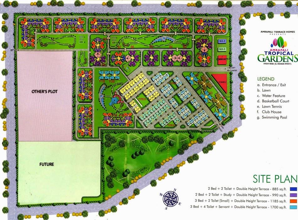 Amrapali Tropical Garden :: Site Plan