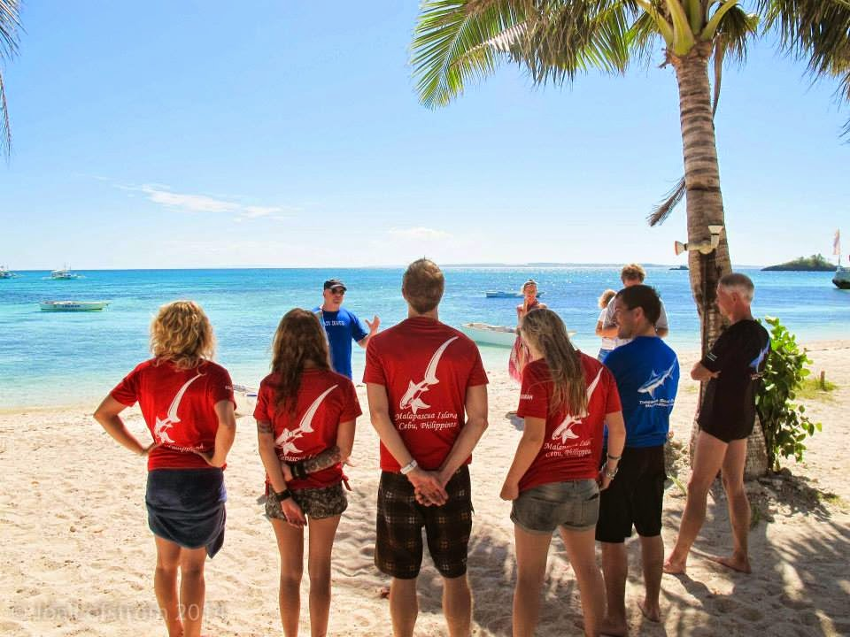 New PADI instructors receiving the good news