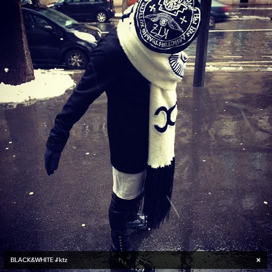 G-Dragon in Paris wearing KTZ 130121