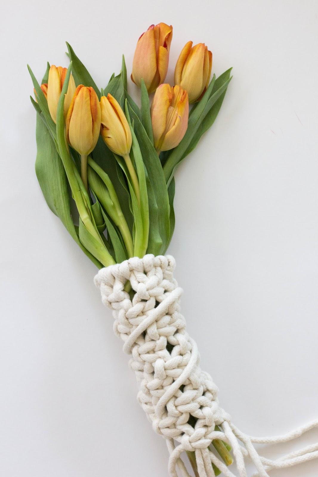 always rooney: Macrame Bouquet Wrap | DIY